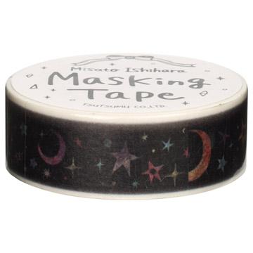 『包む』 マスキングテープ 15mm×10m 星空