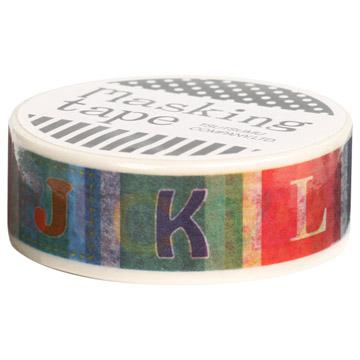 『包む』 マスキングテープ 15mm×10m カラフルフォント