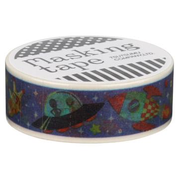 『包む』 マスキングテープ 15mm×10m スペーストラベル