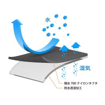 高性能な防水透湿生地により快適に撮影可能