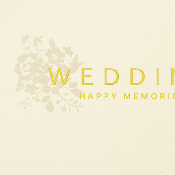 表紙:金箔のタイトルと、パール箔で可憐な花模様