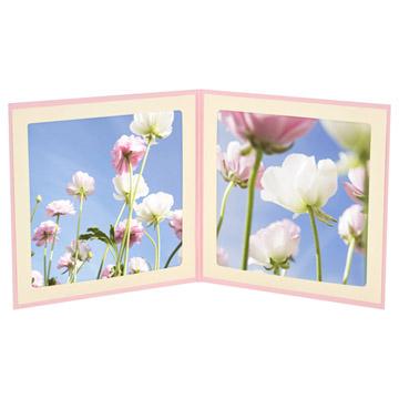 ピンク使用例(127×127mmのお写真がぴったり入ります)