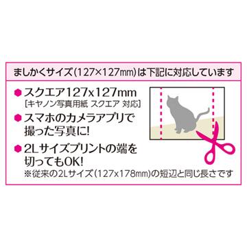 ましかくサイズ(127×127mm)とは