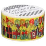 『包む』 マスキングテープ 25mm×10m バースデーパーティー