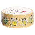 ハクバ ふわり和紙 マスキングテープ 18mm×7m ビール