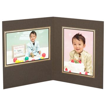 使用例:2Lサイズのタテ写真とヨコ写真を同時に収納できます