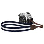 カメラストラップ プラスシェル ストライプストラップ 30 ネイビー/ホワイト