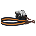 カメラストラップ プラスシェル ストライプストラップ 30 ネイビー/イエロー