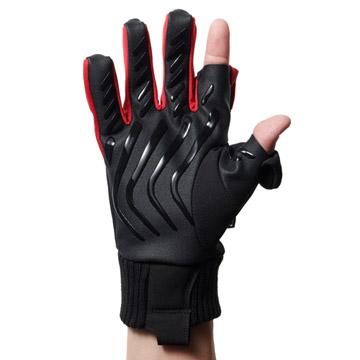 細かい作業を担う人差し指と親指は、第一関節部分のみ出せる構造