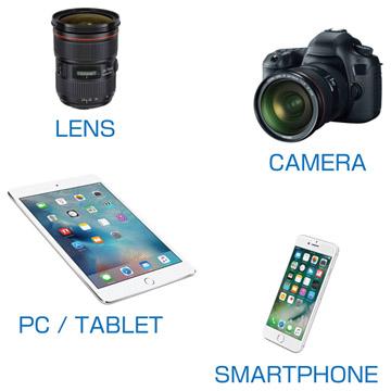 カメラやレンズ、タブレットやスマートフォンの清掃に最適