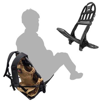 背もたれ付きの椅子として使用可能