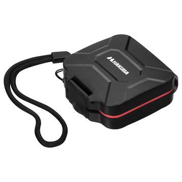 ハードメモリーカードケース SD4(SD/microSDカード用) レッド