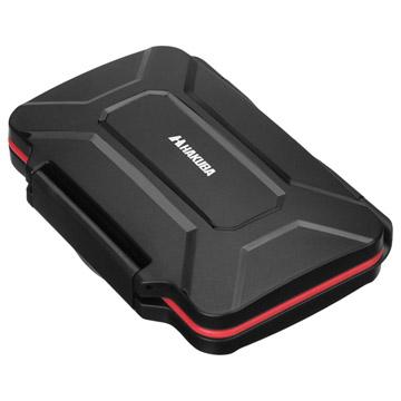 ハードメモリーカードケース SD12(SD/microSDカード用) レッド