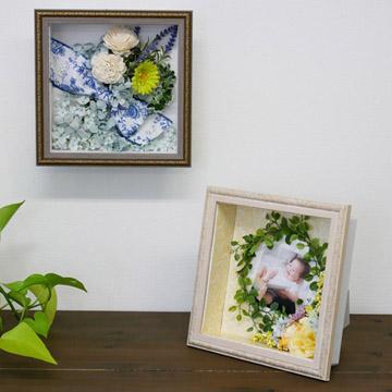 写真や小物をディスプレイできるボックスフレーム