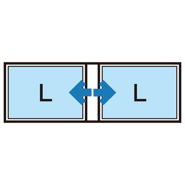 Lサイズの写真(LW対応)を40枚収納可能