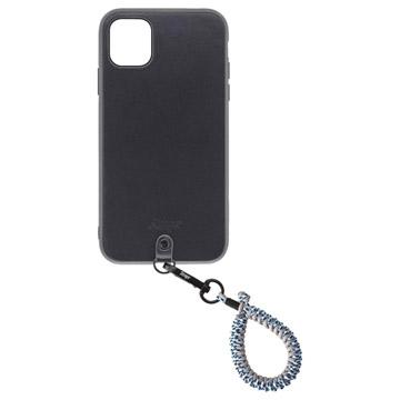 Straps iPhone 11ケース+フィンガーストラップ アイスバーグ