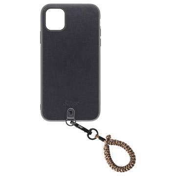 Straps iPhone 11ケース+フィンガーストラップ セレンゲティ
