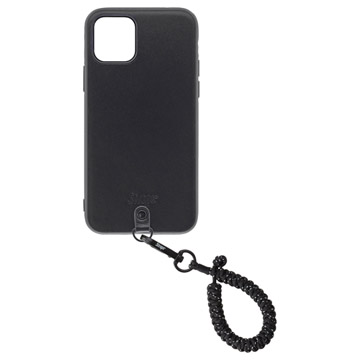 Straps iPhone 11 Proケース+ストラップ スパークルブラック