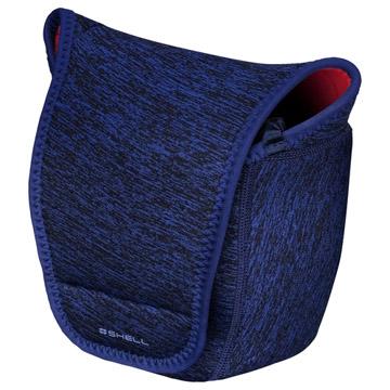 ハクバ プラスシェル スリムフィット カメラケース 02 L ブルー