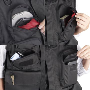 小物の収納に適した多数のポケット