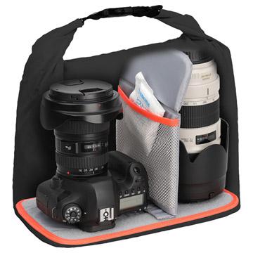 大口径レンズ付きミドルクラス~プロ用一眼カメラと大口径レンズ1本を保管可能