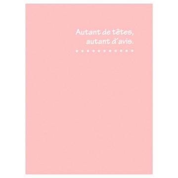 表紙にはフランス語で「十人十色」という意味の箔押し入り