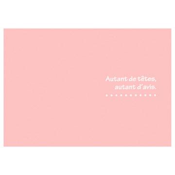 ハクバ 写真台紙 ランス ドゥ ポストカードサイズ 2面 ピンク
