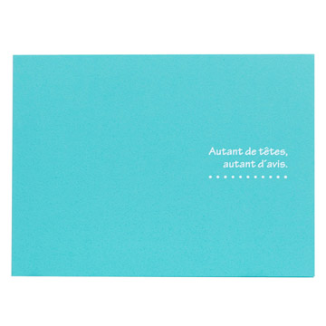 ハクバ 写真台紙 ランス ドゥ 2L(カビネ)サイズ 2面 ブルー