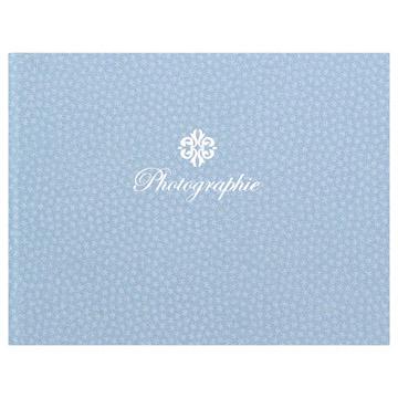 ハクバ 写真台紙 ランス フルル Lサイズ 2面(ヨコ・ヨコ) ブルー