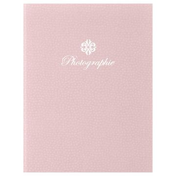 ハクバ 写真台紙 ランス フルル 2L(カビネ)サイズ 2面(タテ) ピンク