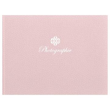 ハクバ 写真台紙 ランス フルル 2L(カビネ)サイズ 2面(ヨコ) ピンク