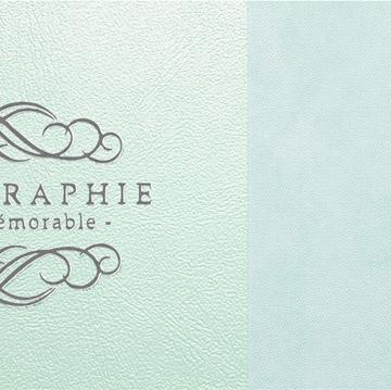 質感の異なる2種類の素材を組み合わせた表紙