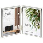メタルフォトフレーム セレーナ01 Lサイズ 2面 シルバー