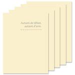 ハクバ 写真台紙 ランス ドゥ Lサイズ 2面 5枚セット クリーム