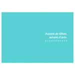 ハクバ 写真台紙 ランス ドゥ ポストカードサイズ 2面 ブルー