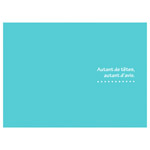 ハクバ 写真台紙 ランス ドゥ 2L(カビネ)サイズ 3面 ブルー