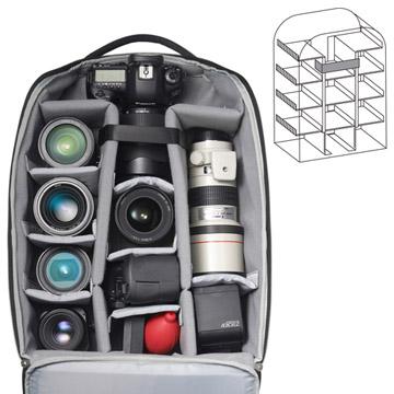大容量の1気室カメラ収納部