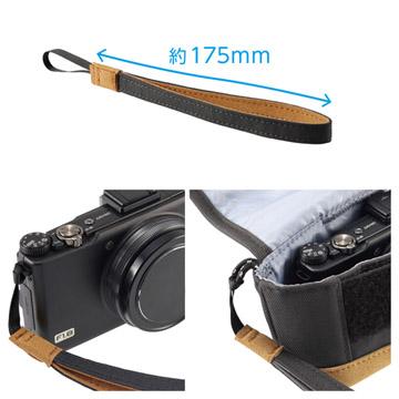 ポーチにもカメラにも取付け可能なハンドストラップ