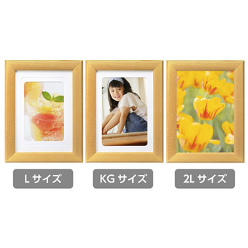 3種類の写真サイズに対応