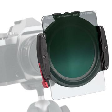 【M7フィルターホルダーシステム】丸型フィルターと角型フィルター装着例