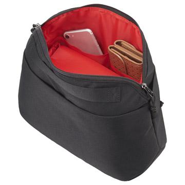 背面のオープンポケットと小物収納ポケット