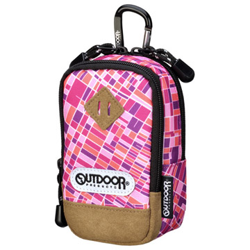 OUTDOOR(アウトドア) カメラポーチ01 LAマップ ピンク