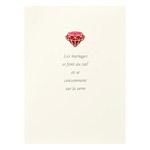 婚礼用台紙 No.23 ポストカード(KGサイズ) 1面(タテ)