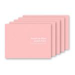 お手軽写真台紙 ランス Lサイズ 2面 ヨコ ピンク 5枚セット