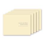 お手軽写真台紙 ランス Lサイズ 2面 ヨコ クリーム 5枚セット