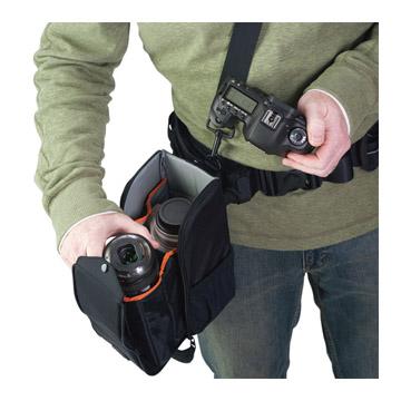 スリップロックシステムでベルトやバッグに装着可能