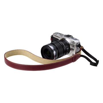 カメラ用本革ネックストラップ SM20 カラー:レッド