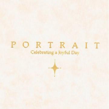 表紙カット拡大。銀の箔押で『Celebrating a Joyful Day』