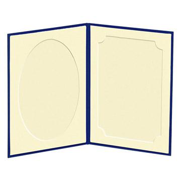 見開き:中額(左/だ円・右/飾り角)、上から写真を差し込みます。