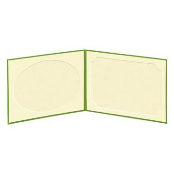 見開き:お写真は中央から左右のポッケに差し込むだけ!